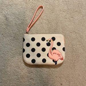 Old navy flamingo three card wallet or wristlet